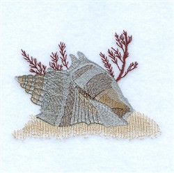 Seashells embroidery design