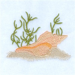 Conch Seashell embroidery design