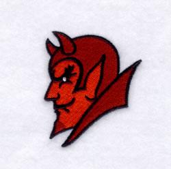 Devils Mascot embroidery design