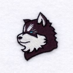Huskies Mascot embroidery design