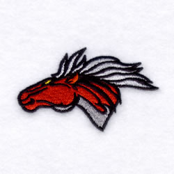 Mustangs Mascot embroidery design