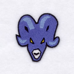Rams Mascot embroidery design