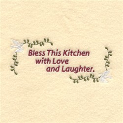 Bless This Kitchen embroidery design