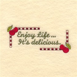 Enjoy Life embroidery design