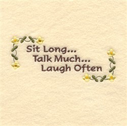 Laugh Often embroidery design