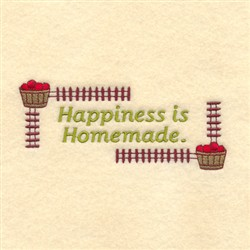 Happiness is Homemmade embroidery design