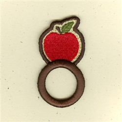 Apple Napkin Ring embroidery design