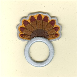 Turkey Tail Napkin Ring embroidery design