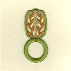 Wheat Napkin Ring embroidery design