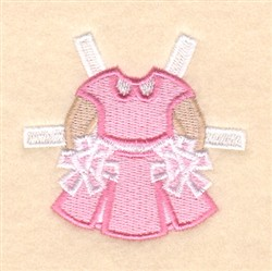 Lucys Cheerleading Outfit embroidery design