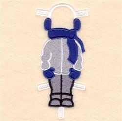 Bens Winter Coat & Earmuffs embroidery design