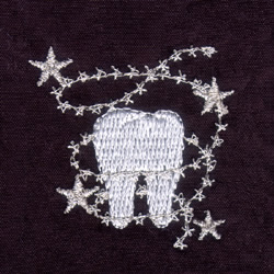 Tooth embroidery design