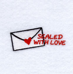 Sealed with Love Envelope embroidery design