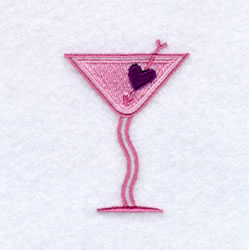 Sweetheart Martini embroidery design