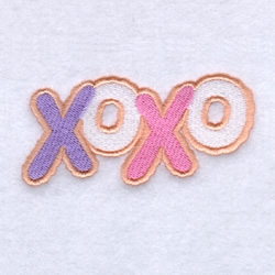 Xs and Os Sugar Cookies embroidery design