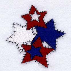 Country Star Cluster embroidery design