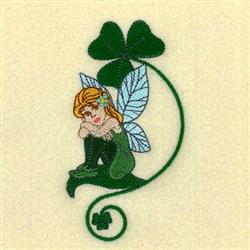 Shamrock Fairy embroidery design
