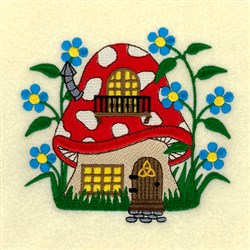 Mushroom Cottage embroidery design