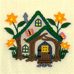 Floral Cottage embroidery design