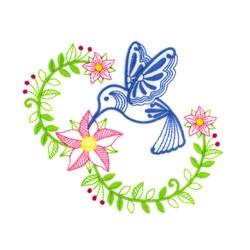 Hummingbird embroidery design