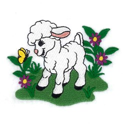 Spring Lamb embroidery design