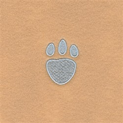 Bunny Robe Front Paw embroidery design