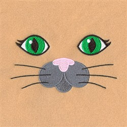 Cat Robe Face embroidery design