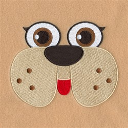 Dog Robe Face embroidery design