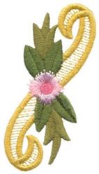 Victorian Floral Border embroidery design