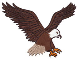 Descending Eagle embroidery design