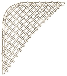 Lattice Corner Outline embroidery design