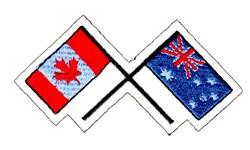 Canada & Australia Flags embroidery design