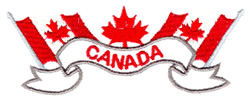 Canada Flags & Banner embroidery design