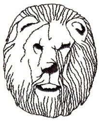 Lion Head Outline embroidery design