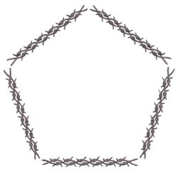 Large Barbed Band embroidery design