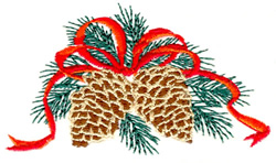 Christmas Pinecones embroidery design