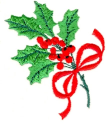 Christmas Berries embroidery design