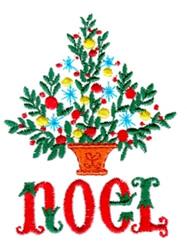Noel embroidery design