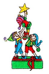 Three Elves embroidery design