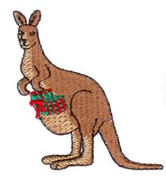 Christmas Kangaroo embroidery design