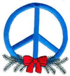 Christmas Peace Symbol embroidery design