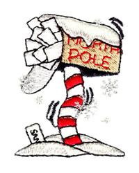 """""""To: Santa, North Pole"""" embroidery design"""