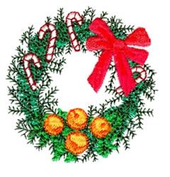 Christmas Wreath embroidery design
