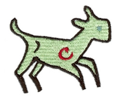 Christmas Lamb embroidery design