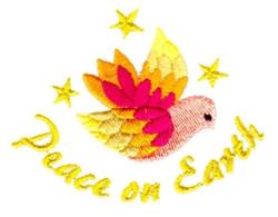 Dove-Peace on Earth embroidery design
