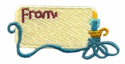 Christmas Tag embroidery design
