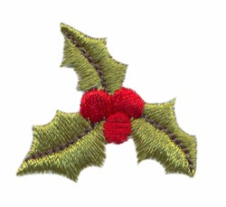 Single Holly embroidery design