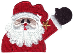 Pocket Santa embroidery design
