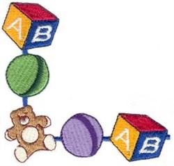 Toy Corner embroidery design