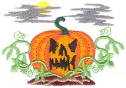Scary Pumpkin embroidery design